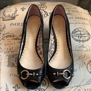 Coach wedge heels sz 7.5